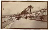 Nice Francia La Promenade Dei Inglese Vintage Stampa Aristotipia, Ca 1910
