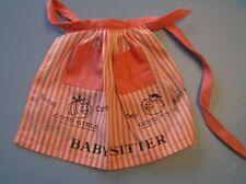 Vintage Barbie Baby-sits Apron crisp