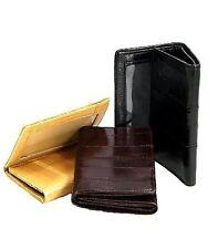 Genuine Eel Skin Leather Men's Trifold Wallet Light Weight Front Pocket Holder