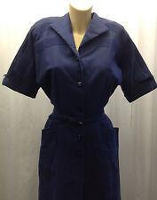 Los 40' Toni Todd Original ricos Sax Vestido Azul Con Detalle cosido.
