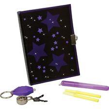 Childs Kids Secret Diary Set Lockable Padlock & Keys Invisible Ink Pen 09076