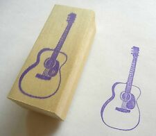 Musical Instrument Rubber Stamp - Steel String Guitar