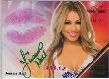 2011 BENCHWARMER LIMITED KISS AUTO: JESSICA HALL #9/10 GREEN AUTOGRAPH PLAYBOY