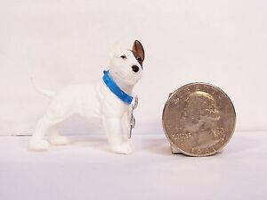 "White English Bull Terrier Dog 2"" Figurine Figure NEW"