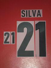 FLOCAGE OFFICIEL SILVA ESPAGNE AWAY 2012-2014