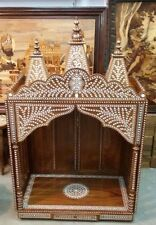 Large Handmade Rosewood Indian Inlaid Temple ,Mandir (Hindu Pooja)
