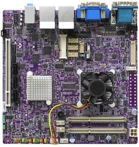 Intel Atom 1.8GHz DVI DSUB PCI Mini PCIE CF 3x SATA LAN 12V Mini ITX Motherboard