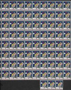 USA 1944 MNH CHRISTMAS SEALS BLOCK OF 83 SOME SPLIT PERFS  PERF 12 1/2