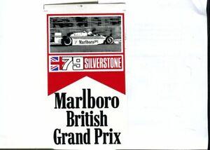 British GP 1979 Marlboro original sticker autocollant adhesivo unused