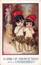 POSTCARD   CHILDREN    A pair of French  Kids    Undressed !      Spurgin