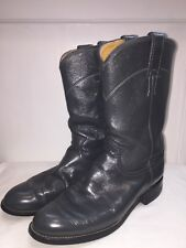 Justin Roper Cora Women's Western Cowboy Boots Black Leather 6 B