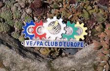 SELTENE SCHÖNE ALTE EMAILLE MOTORROLLER PLAKETTE # VESPA CLUB D'EUROPE