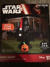 Disney Star Wars 9' Halloween Inflatable Darth Vader W/ Pumpkin Light Up NIB New