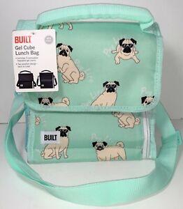 NEW Built Gel Pack Cube Pug Life Dog BPA Free Adjustable Lunch Bag Box Tote Sack
