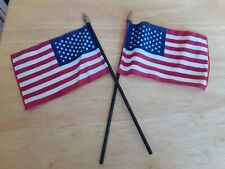 "50-Mini American Flags 4"" X 6"" - United States of America - 4th July Flags"