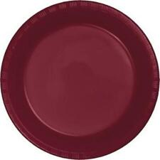 """Burgundy 9"""" Plastic Plates 20 Per Pack Burgundy Decorations & Party Supplies"""