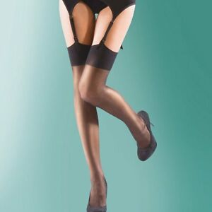 2 Pairs Shine 15 denier stockings with 10% spandex for added comfort