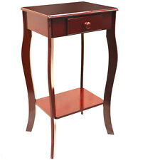Traditional Wooden Telephone / End Table with Storage Drawer - Cherry CH6022
