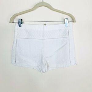 J.Crew Cotton Textured Short Shorts Women's Size 0 White