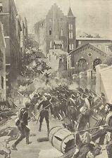 A1124 Rivoluzione Russa - La carnificina di Odessa - Stampa Antica del 1905