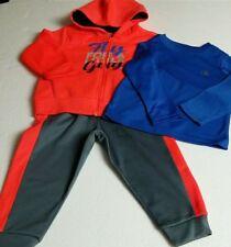 Champion Athletic 3 Pc Boys Hooded Jacket Pant Shirt Performance Sweat Pant  2T