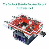35W USB Digital Einstellbare Elektronische Last Voltmeter Discharge Tester LED