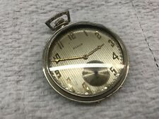 Vintage 14Kt White Gold Elgin Pocket Watch 17 jeweled Very Nice