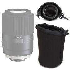 Neoprene Large Lens Pouch Case for Tamron SP 90mm F2.8 Di VC USD 1:1 Macro Lens