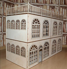 Roombox & stair 1:12 Scale Dollhouse 20x32x14 in Diorama Stackable 4 floors WOOD