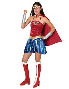 """Wonder Woman Teen Costume, Teen, (USA 2 - 6), BUST 32 - 34"""""""