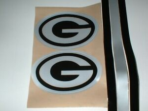 """GREEN BAY PACKERS """"BLACK ICE"""" FULL SIZE FOOTBALL DECALS"""