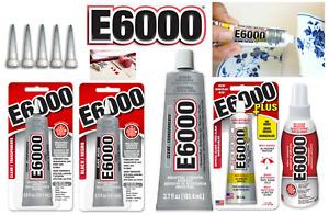 E6000 Kleber Super Starker Industrie Alleskleber /versch. Farben, Grö��en + Snips