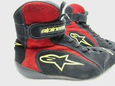 Fox AlpineStars Mens Racing Suede Shoes / Boots size 10.5 Red / Black / Gold