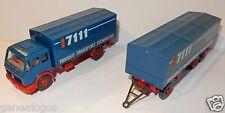 WIKING HO 1/87 CAMION MERCEDES 1632 REMORQUE 17111 TRANSIT TRANSPORT FLENSBURG
