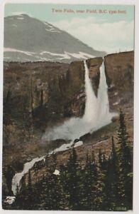 Canada postcard - Twin Falls, near Field, B.C (300 Feet) (A67)