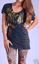 AUTHENTIC.. Christian Audigier / Ed Hardy T Shirt *WILD ROCKS * New With Tags