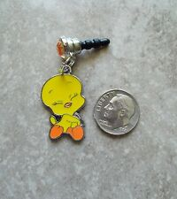 New Tweety Bird Charm iPhone Android Smartphone Rhinestone Dust Plug 3.5 mm