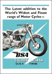 1950 BSA A10 Golden Flash 650cc poster