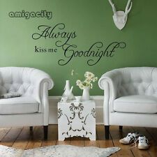 Kiss Me Goodnight Sweety Quote Mural Vinyl Wall Sticker Decal Home Decor