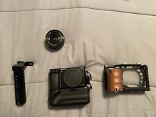 sony a6000 Mirrorless Camera With Kit Lens, Small Rig Cage With Top Handle