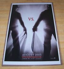 Freddy Vs Jason Voorhees Krueger 11X17 Movie Poster Teaser