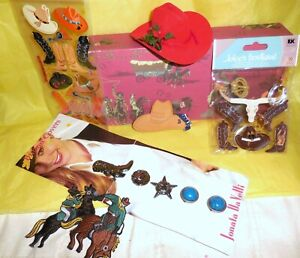 Western Bronco Boots Sheriff Star 10 Gallon Hat Everything Cowboy Lot