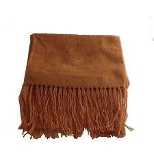 Genuine Brushed Camel Alpaca Wool Scarf Hand Made in Ecuador & Peru