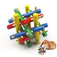 Wood Pet Exercise Toy Knot Nibbler Chew Bite for Rabbit Hamster Small Animal Kid