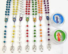 One Dozen Assorted Colors Plastic Round Beads ROSARIES