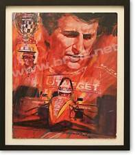 """Zanardi--Life Champion"" Signed Original George Bartell Watercolor, ink, and pen"
