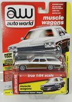 2018 AUTO WORLD 1:64 *PREMIUM 4B* ARTIC WHITE 1974 Buick Estate Station Wagon