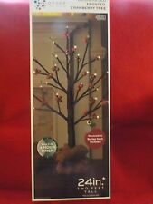 """L@@K Home Collection Decorative Frosted Cranberry Tree 24"""" for Holidays"""