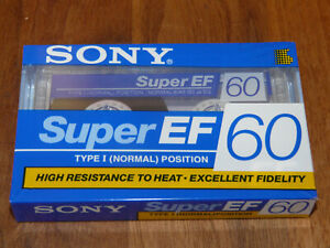Sony Super EF 60 Leerkassette Musikkassette neu in Folie, vintage audio tape