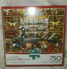 Buffalo The Cats of Charles Wysocki 750 Piece Jigsaw Puzzle Elmer & Loretta